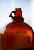 Bottiglia di vetro vuota Immagine Stock