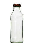 Bottiglia di vetro vuota Fotografia Stock Libera da Diritti
