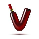Bottiglia di vino illustrazione vettoriale