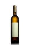 Bottiglia di vino bianco con il contrassegno vuoto Immagine Stock