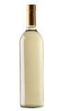 Bottiglia di vino bianco isolata Fotografie Stock Libere da Diritti