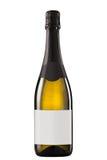 Bottiglia di vino bianco scintillante Fotografie Stock Libere da Diritti