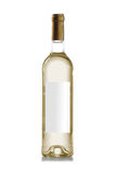 Bottiglia di vino bianco senza il contrassegno Immagini Stock Libere da Diritti