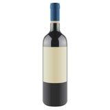 Bottiglia di vino con un contrassegno in bianco, vettore Fotografie Stock Libere da Diritti