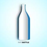 Bottiglia di vino da carta -  Fotografie Stock Libere da Diritti