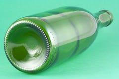 Bottiglia di vino dal suo lato Fotografia Stock