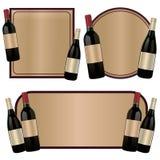 Bottiglia di vino dell'etichetta Fotografia Stock Libera da Diritti