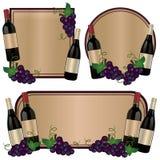 Bottiglia di vino dell'etichetta Fotografia Stock