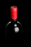 Bottiglia di vino illuminata Immagini Stock Libere da Diritti