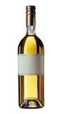 Bottiglia di vino isolata con il contrassegno in bianco Fotografia Stock Libera da Diritti