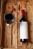Bottiglia di vino rosso Immagine Stock Libera da Diritti