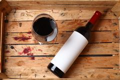 Bottiglia di vino rosso Fotografie Stock