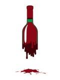 Bottiglia di vino rosso illustrazione di stock