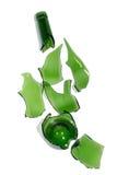 Bottiglia di vino rotta Fotografia Stock Libera da Diritti