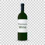 Bottiglia di vino su priorità bassa bianca immagine stock