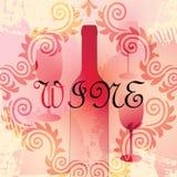 Bottiglia di vino di vettore Immagini Stock