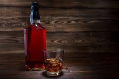 Bottiglia di whiskey Immagine Stock Libera da Diritti