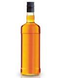 Bottiglia di whiskey Immagini Stock Libere da Diritti