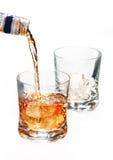 Bottiglia di whisky Immagine Stock