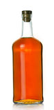 Bottiglia di whisky piena Fotografie Stock Libere da Diritti