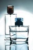 Bottiglia due con profumo Fotografia Stock Libera da Diritti