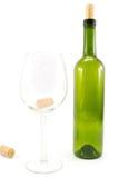 Bottiglia e bicchiere di vino Immagine Stock Libera da Diritti