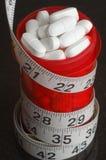 Bottiglia e pillole di prescrizione Fotografie Stock Libere da Diritti
