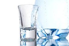 Bottiglia e vetro Immagine Stock