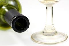 Bottiglia e vetro di vino Immagine Stock Libera da Diritti