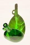 Bottiglia ed ombra verdi Fotografie Stock