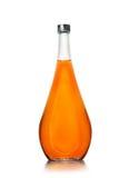 Bottiglia elegante con il cognac Fotografia Stock
