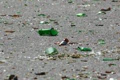 Bottiglia frantumata Fotografia Stock Libera da Diritti