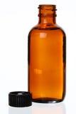 Bottiglia generica scoperchiata della medicina Fotografia Stock Libera da Diritti