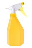 Bottiglia gialla dello spruzzo per pulizia della lavata Fotografia Stock