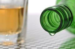 Bottiglia a macroistruzione di vino Fotografia Stock Libera da Diritti