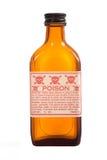 Bottiglia marrone antica di prescrizione Immagini Stock Libere da Diritti