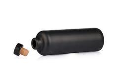 Bottiglia nera dell'argilla Fotografie Stock