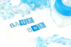 Bottiglia per il latte del neonato Fotografia Stock Libera da Diritti