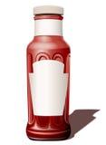 Bottiglia per una salsa di pomodori Fotografia Stock