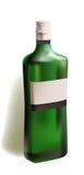Bottiglia realistica di forte vino Fotografia Stock