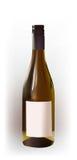 Bottiglia realistica di vino Fotografia Stock Libera da Diritti