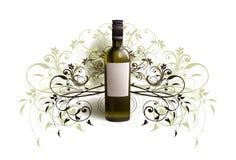 Bottiglia realistica di vino Fotografia Stock