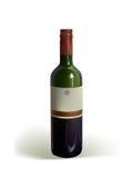 Bottiglia realistica di vino Fotografie Stock