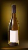 Bottiglia realistica di vino dolce Immagine Stock