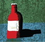 Bottiglia rossa illustrazione di stock