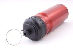 Bottiglia rossa di isolamento Fotografie Stock