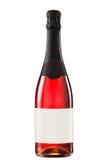 Bottiglia scintillante del vino rosso Fotografia Stock