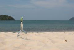 Bottiglia sulla spiaggia Fotografia Stock Libera da Diritti