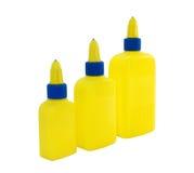 Bottiglia tre da incollare su un bianco Fotografie Stock Libere da Diritti
