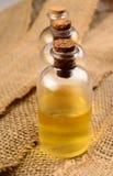 Bottiglia tre dell'olio di bagno Immagini Stock Libere da Diritti